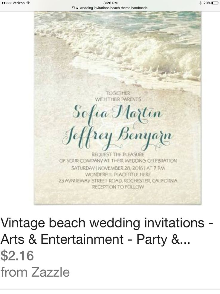 Shop Vintage Beach Wedding Invitations Created By Jinaiji
