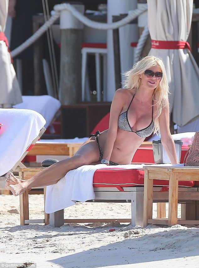 Opening up: Despite exuding confidence in both her bikini and more glamorous attire, Victoria previously revealed her discomfort with the modelling catwalk and the industry as a whole