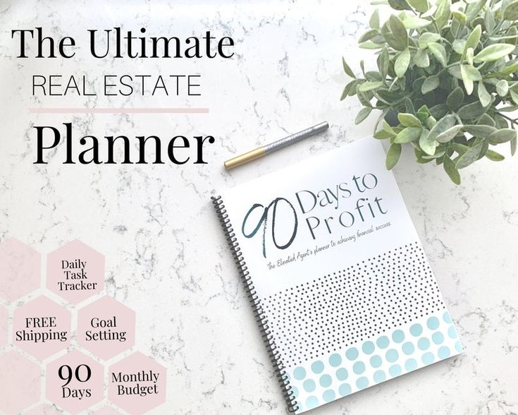 Real Estate Agent Planner – Real Estate Planner, Realtor Daily Planner, Planner, 90 Day Planner, Real Estate Schedule, Realtor Schedule
