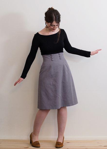 An mone skirt mon c ur adore les boutons et taille haute for Haute translation