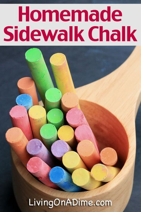 Homemade Sidewalk Chalk Recipe