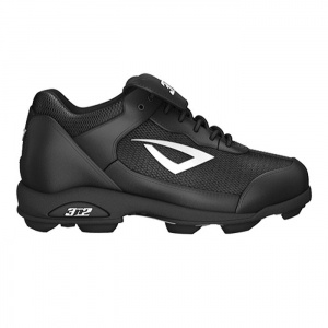 Kids 3N2 Rookie Softball Cleats Black Leather - ONLY $36.45