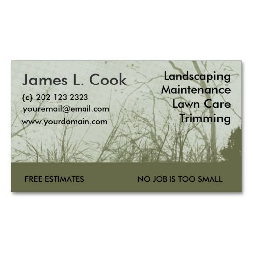 Landscaping Business Cards Ideas Geccetackletartsco - Landscaping business card template