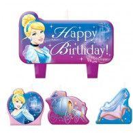 Cinderella Candle, Mini Moulded Set Pkt4 $17.95 A173840
