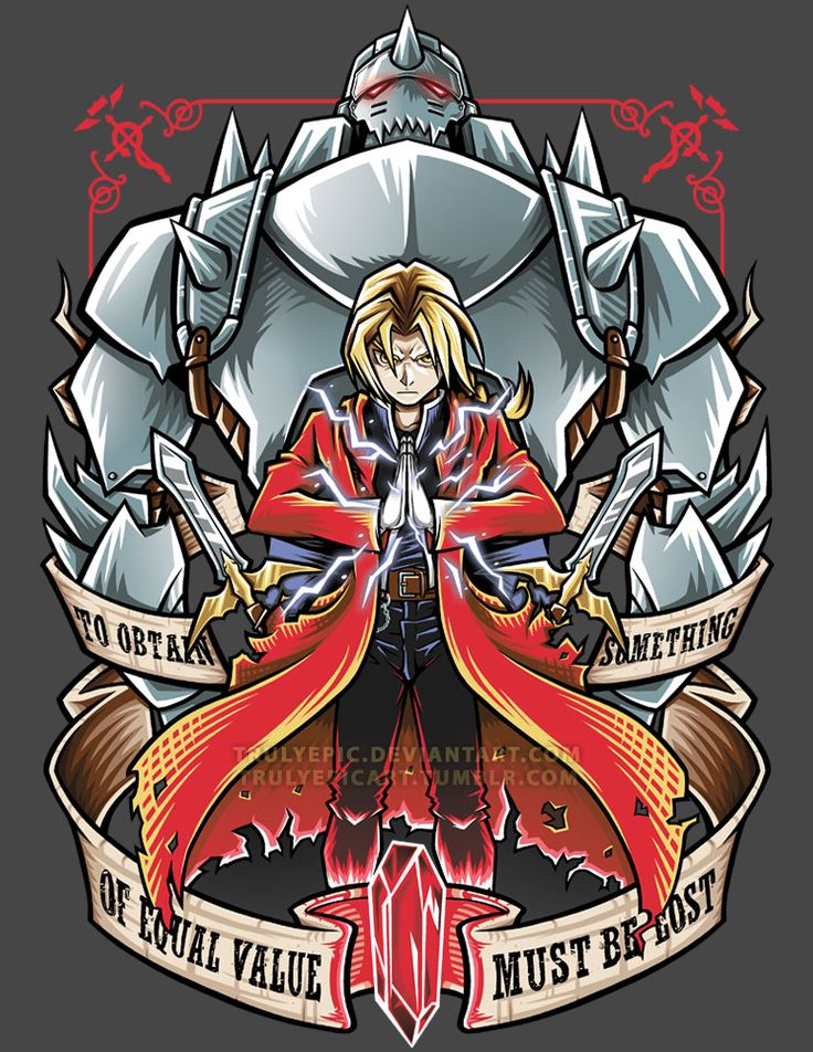 FullMetal Alchemist: Brotherhood by TrulyEpic on DeviantArt my favorite quote from my favorite anime.