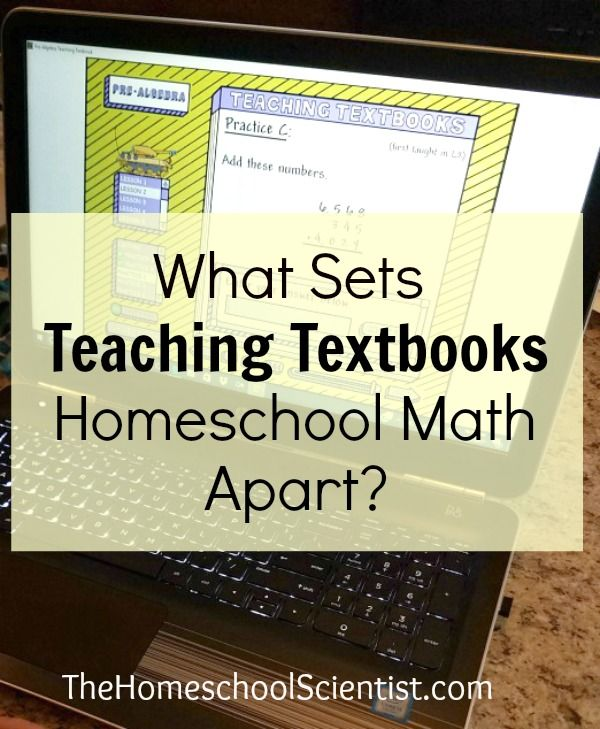 What Sets Teaching Textbooks Homeschool Math Apart? - The Homeschool Scientist