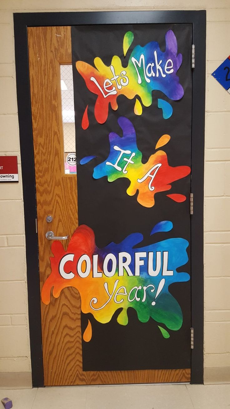 My 4th year door covering for the Art Room-K Downing