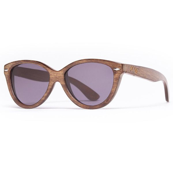 Proof 'McCall' Stained Bamboo wooden sunglasses are one of our most popular women's styles, and are made from lightweight natural bamboo.
