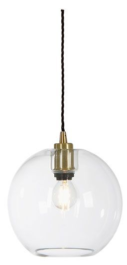 Gloria T1071 - glass pendant. Made in Sweden by Belid