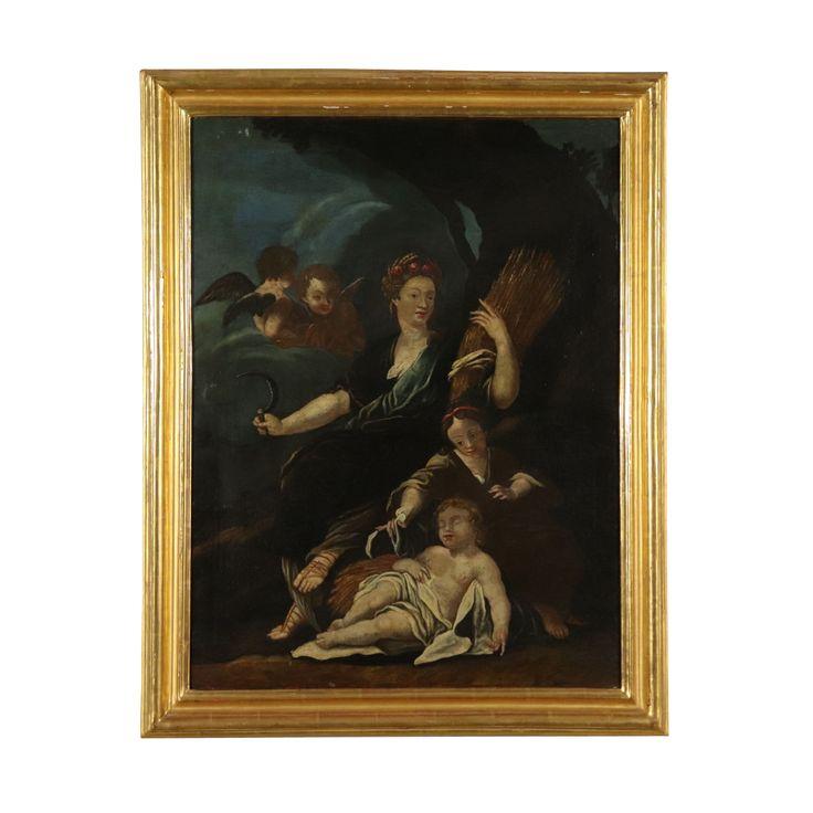 Allegorie des Sommers Ölgemälde 18. Jahrhundert