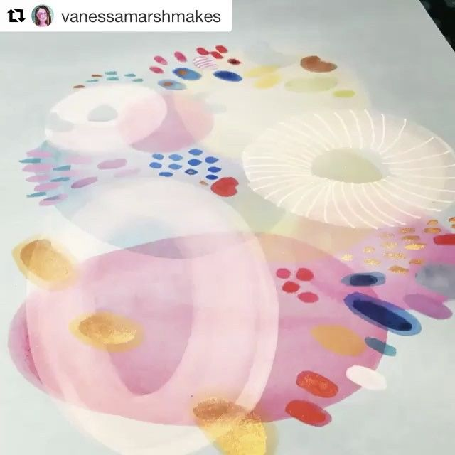 #Repost @vanessamarshmakes with @repostapp  ・・・  Works working! Small time lapse of my work at #100daysofpapermagic for #the100dayproject #blues #golds #gouacheart #ink #paperartwork #irishartist #irishpattern #textileprint #textiledesign #vanessamarshmakes #vanessamarshdraws #vanessamarshetsy #vanessamarshmakesavideo