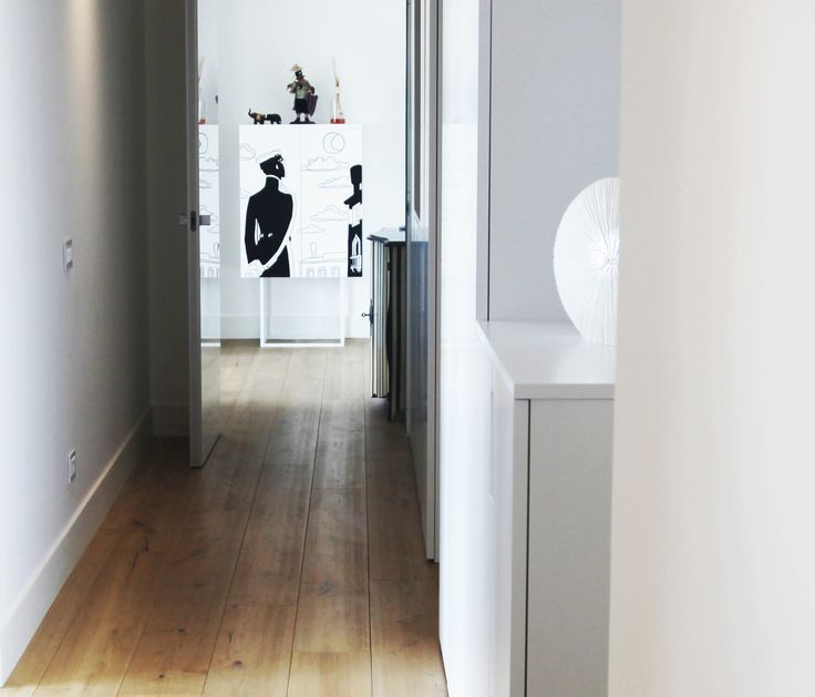 #White everywhere, except for the #floor. Parquet Cool, collection Must by Woodco.