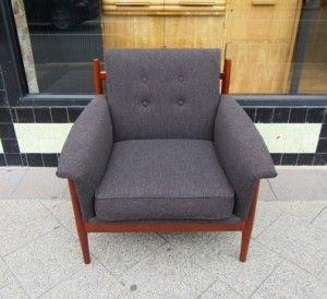 vintage grey armchair 1