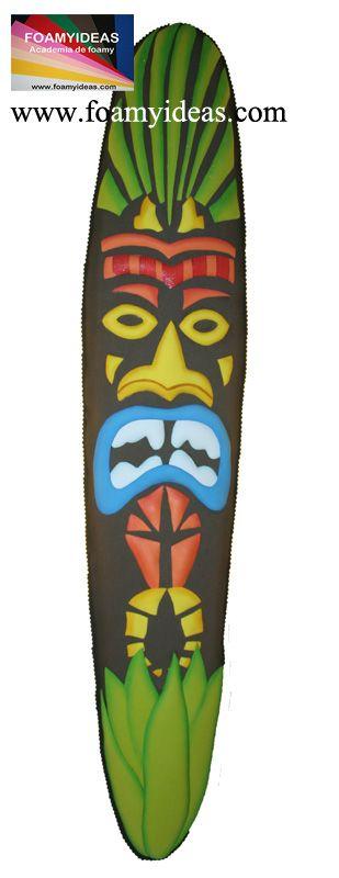 Can you imagen to decorate your room with such a nice and exotic African Mask?  Mascara africano para decorar la pared de tu salón o habitación. Molde: http://www.foamyideas.com/moldes/habitacion/mascara-africana/details