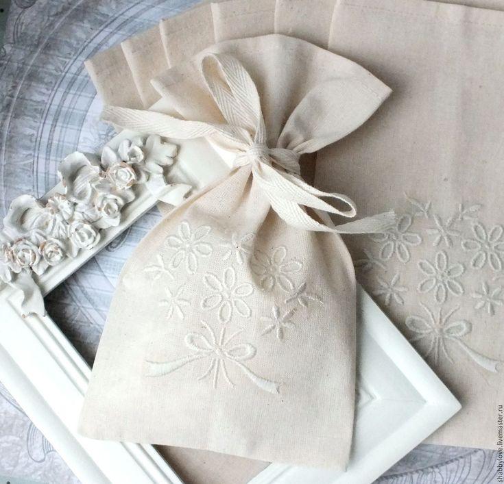 Handmade wedding gift bag / Мешочки-подарки гостям на свадьбу - бежевый, свадьба, свадебные аксессуары, таросики, торосики, бонбоньерка