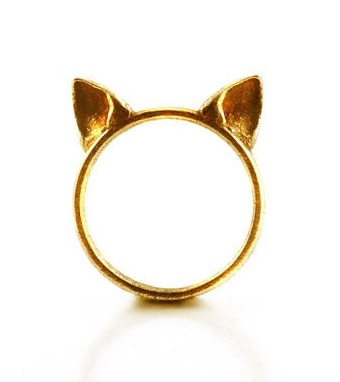Kitty Ring / TheRogueAndTheWolf on etsy