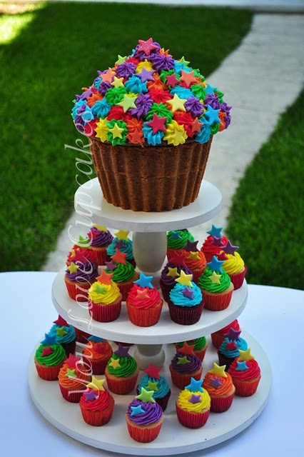 Colorful cake! Or cakes..?! :)