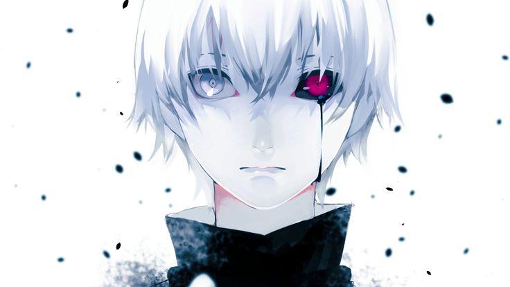 Anime 1920x1080 Tokyo Ghoul anime boys white hair Kaneki Ken