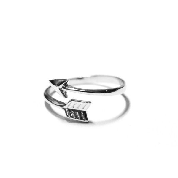 silver arrow ring is made of solid .925 sterling silver Featuring a solid flat…