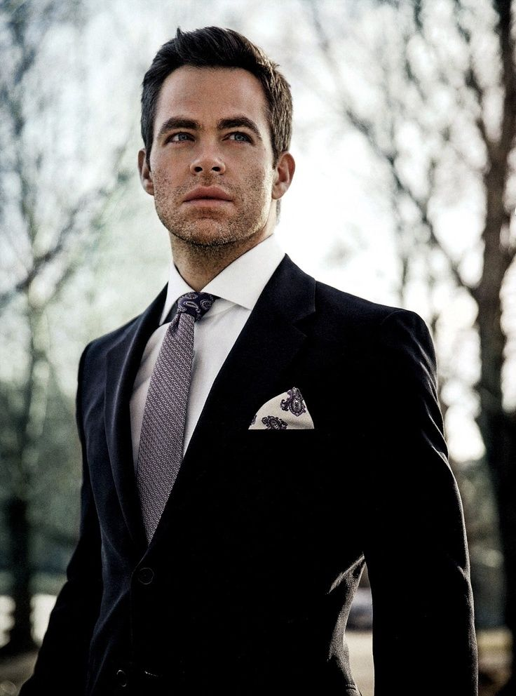 Chris Pine, another hairstyle I could consider.