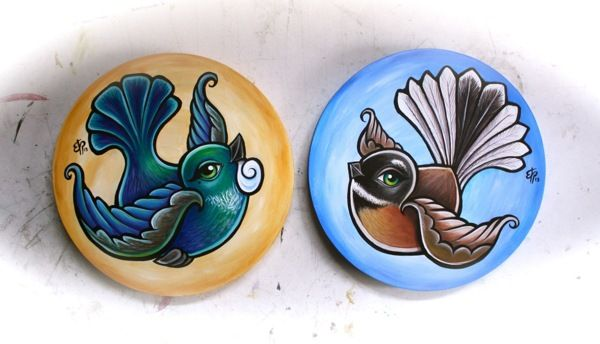 Tui & Fantail by Erika Pearce, via Behance