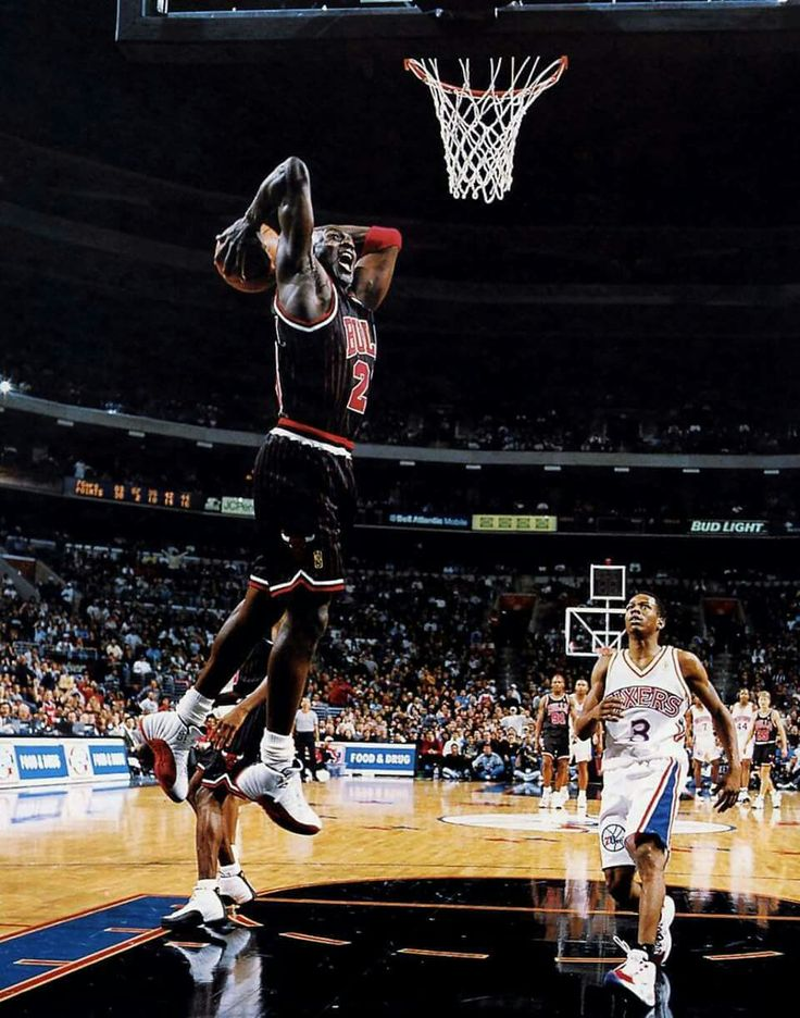 The Answer Allen Iverson watches the GOAT Michael Jordan's two handed delivery in Philly.