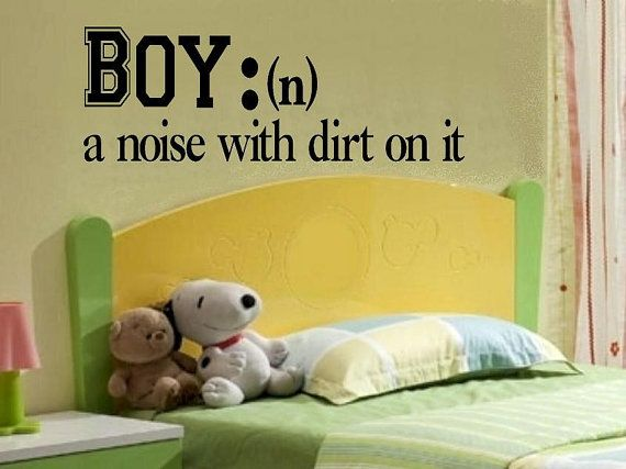 Haha! Gotta get this for the minion's room!  children wall decal quote Boy definition a by WallDecalsAndQuotes, $9.00