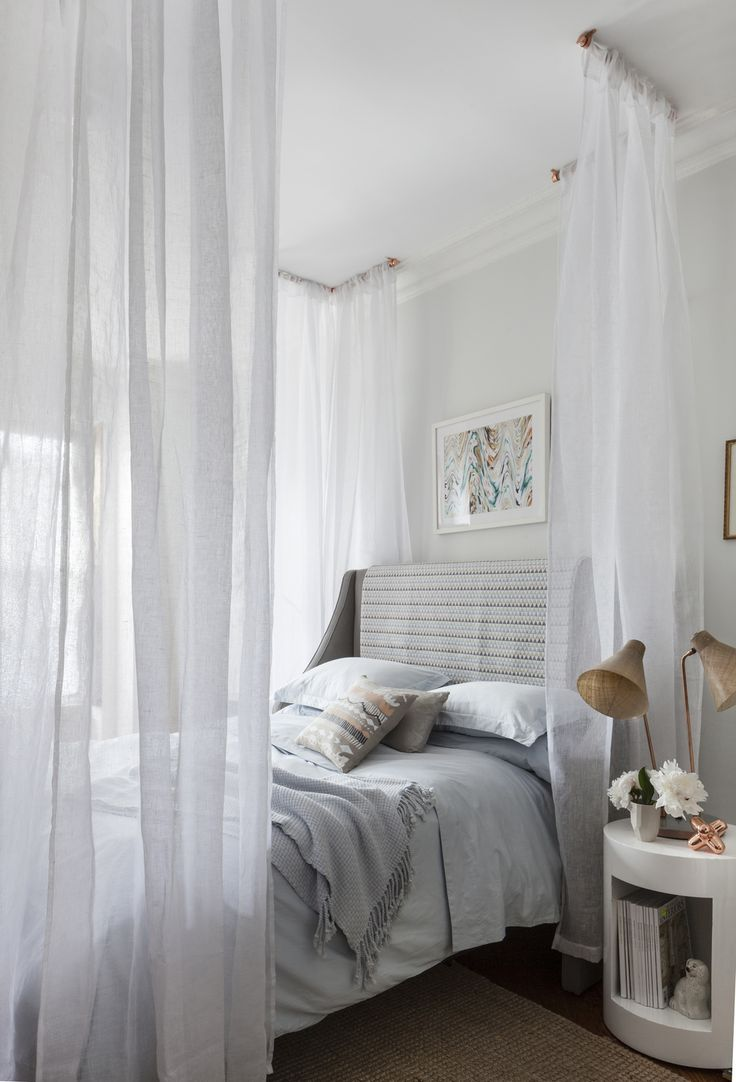 a gorgeous canopy bed diy dreamy canopy bed project special projects editor megan pflug shows us how to add a light and airy canopy to any bed