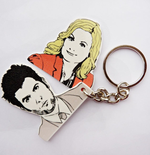 #Pawnee's First #Couple #keychain by #PeachyApricot on #Etsy, $8.00  #parksandrecreation  #AdamScott #LeslieKnope: Couple Keychains, Ben Keychains, 8 00 Parksandrecr, Recreation Ben, Leslie And Ben, Parks And Recreation Gifts, Leslie Pawn, Leslie Keychains, Leslie Keys