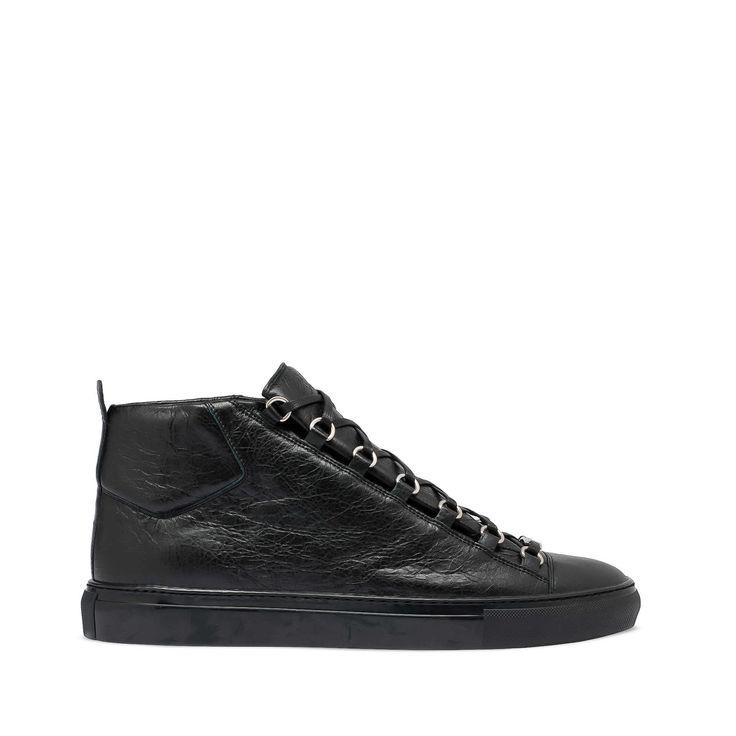 Black Balenciaga Arena High Trainers - Men's Shoes - Balenciaga