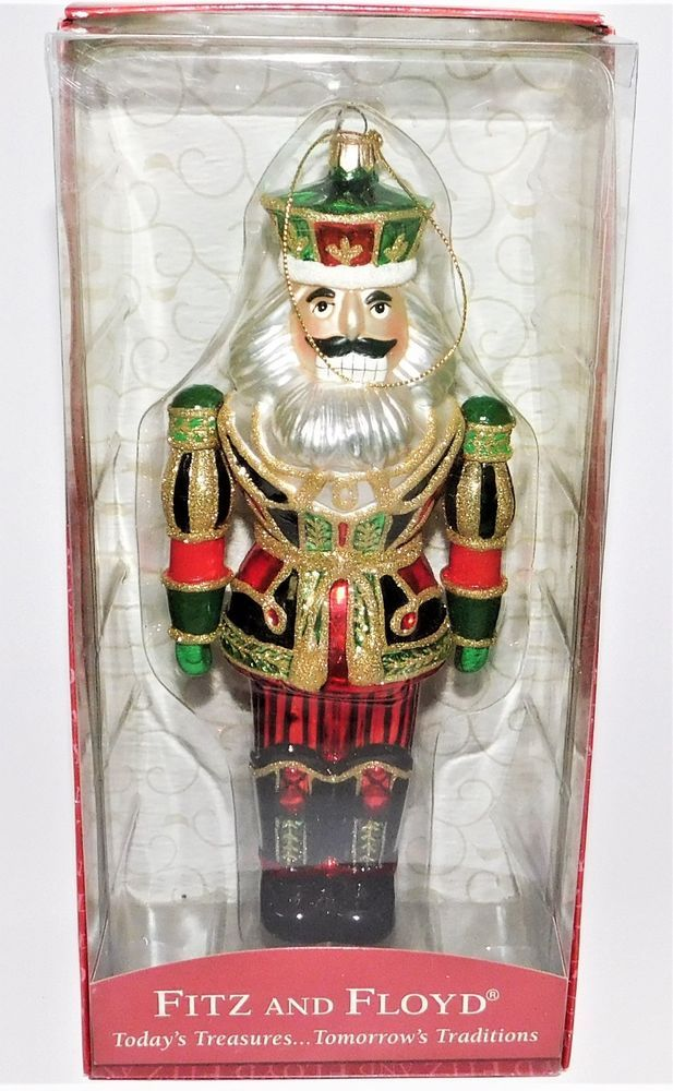 Details about Fitz Floyd Old Fashioned Christmas Toy Soldier Glass