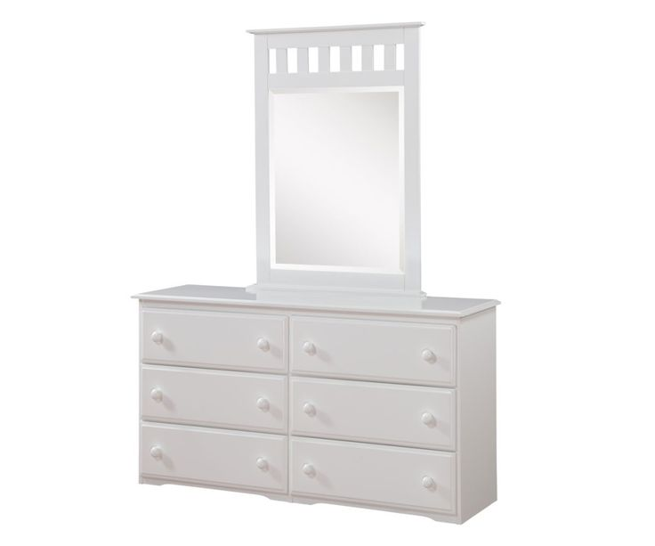 Solid Wood White Dresser With Mirror In Houston