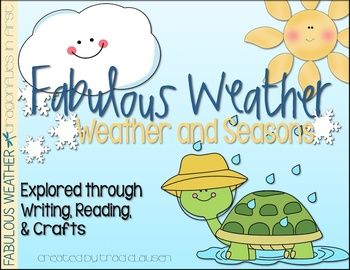 There are so many activities included in this fun science unit. Students will explore weather through reading, writing and crafts. 2 of my most favorite bulletin boards are included in this pack!