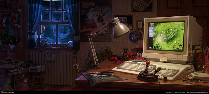 same memories ... I had the same Amiga, same joystick etc. great :-)    Toni Bratincevic  16-bit Memories  3ds max, VRay  September 2010