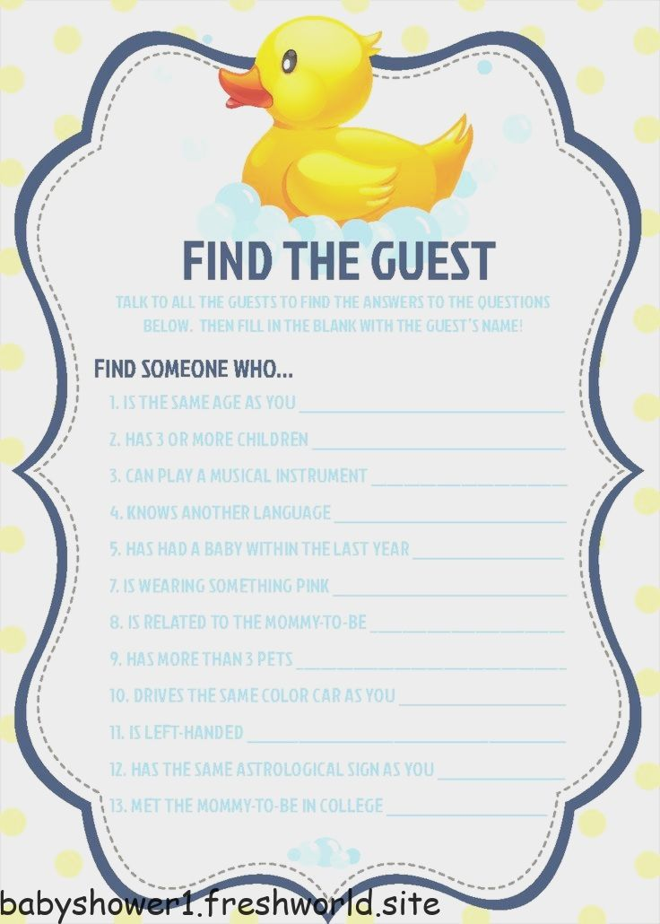 Find The Guest Baby Shower Game Rubber Ducky Baby Shower Boy Baby Shower Games Instant Download 0025 Boy Baby Shower Games Rubber Ducky Baby Shower Ducky Baby Showers