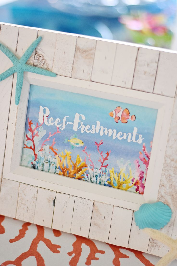 Project Nursery - Under the Sea Birthday Party Printable Party Signage