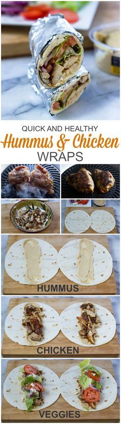 Hummus and chicken Wraps (Quick, Healthy, Adaptable)   Brunch Time Baker