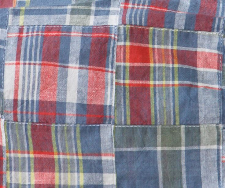 Fabric Finders Madras Plaid Patchwork 1yard by FlourSackDesigns