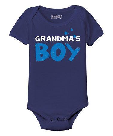 Another great find on #zulily! Navy 'Grandma's Boy' Bodysuit - Infant #zulilyfinds