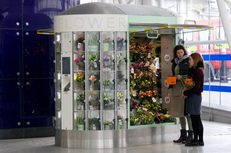 Our unique self-designed flower vending machine is open 24/7 at the Blackfriars tube station forecourt.
