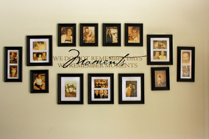 Picture Frames Collage Wall Ideas