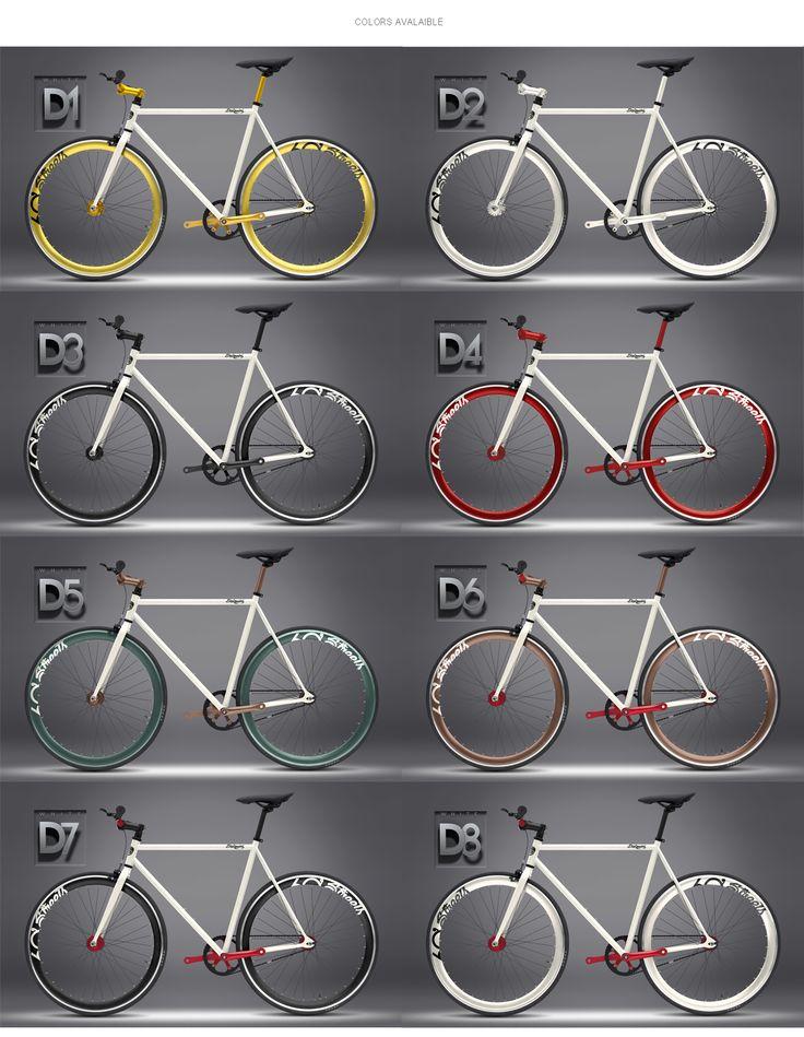 $259  60Streets Daiquiri Fixed Gear Fixie Single Speed Bike Bicycle White D3 57cm