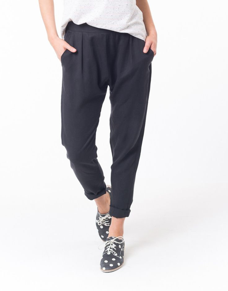 elm - Lifestyle Clothing - Relax Pant In Washed Black