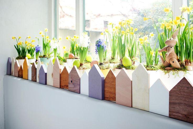Ein bunter Zaun für den Deko-Garten