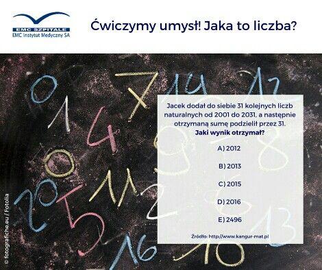 Kolejny piątek musi zacząć sie od zagadki matematycznej!  #zdrowaglowa #cwiczumysl #matematyka #zadanie #piatek #emc