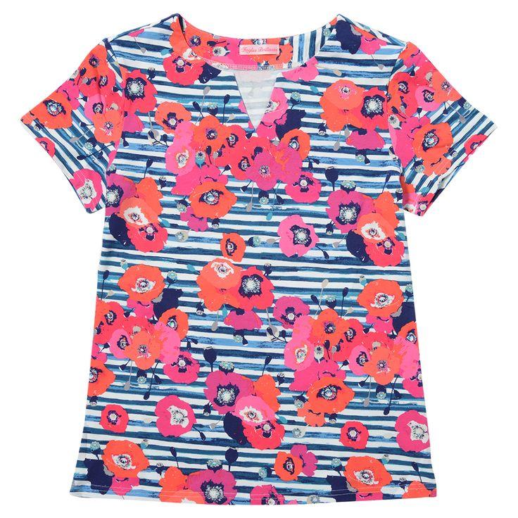NAVY FLOWER T-shirt