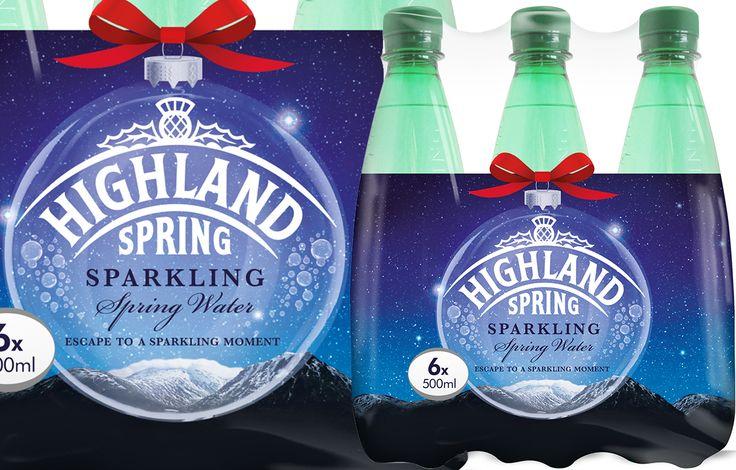 Highland Spring Sparkling launches festive shrink wrap