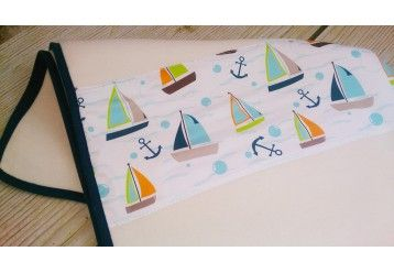 ORGANIC Sailboats MAXI Baby Blanket - 100% ORGANIC COTTON