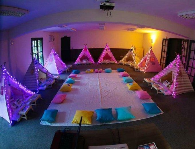 Camping Sleepover Party Tents with Lights