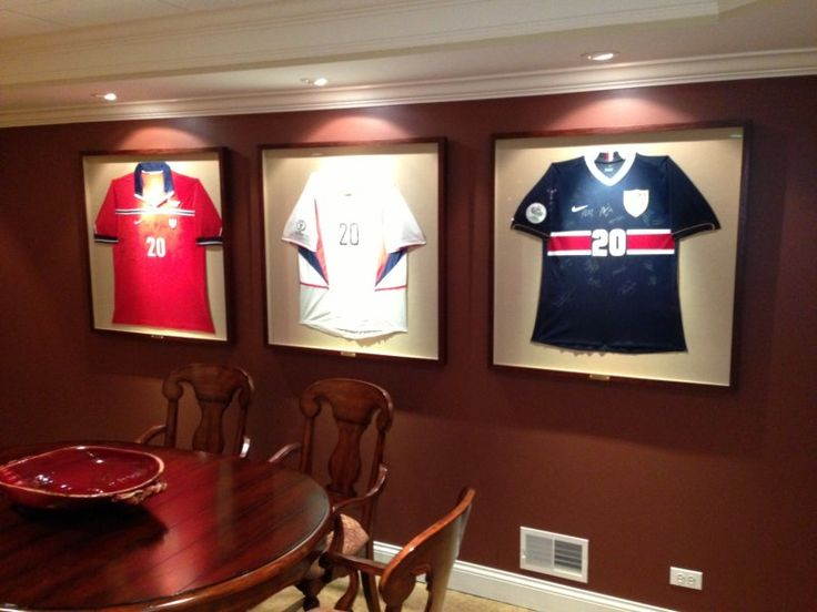 Sports Memorabilia framed on walls. Ultimate collectors ...